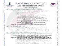 Programa de actos del día 21 de abril